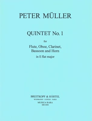 Peter Müller - Quintet n° 1 in Eb - Parts - Partition - di-arezzo.fr