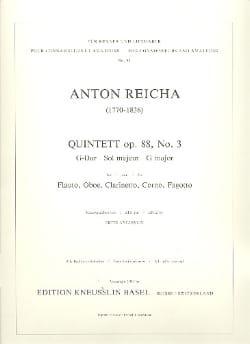 Bläserquintett op. 88 Nr. 3 G-Dur - Stimmen REICHA laflutedepan