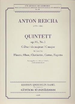 Bläserquintett op. 91 Nr. 1 C-Dur -Stimmen REICHA laflutedepan