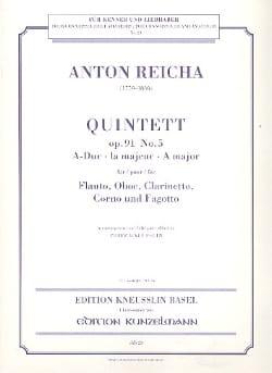 Anton Reicha - Bläserquintett op. 91 Nr. 5 A-Dur –Stimmen - Partition - di-arezzo.fr