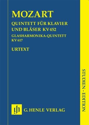 MOZART - Quintett Klavier Bläser KV 452 u. Glasharmonika-Quintett KV 617 - Partition - di-arezzo.fr