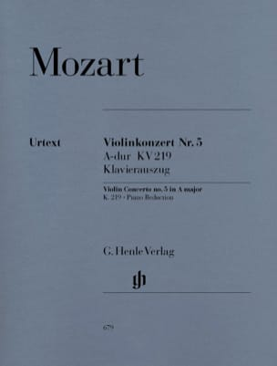 MOZART - Concerto pour violon n° 5 en La majeur K. 219 - Partition - di-arezzo.fr
