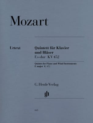 MOZART - E flat major K. 452 for piano, oboe, clarinet, horn and bass - Sheet Music - di-arezzo.co.uk