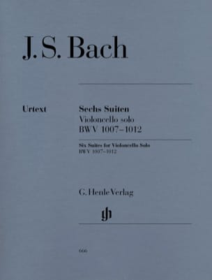 BACH - 6 Suiten BWV 1007-1012 - Violoncello Solo - Sheet Music - di-arezzo.co.uk