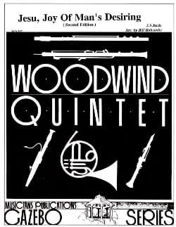 BACH - Jesu, Joy of Man's desiring –Woodwind quintet - Partition - di-arezzo.fr