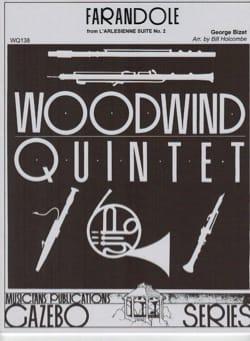 Farandole -Woodwind quintet BIZET Partition Quintettes - laflutedepan
