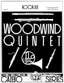 RACHMANINOV - Vocalise Oboe Solo Version - Woodwind Quintet - Sheet Music - di-arezzo.co.uk