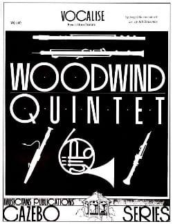 Serge Rachmaninov - Vocalise (Horn Solo Version) - Quintette A Vent - Partition - di-arezzo.fr
