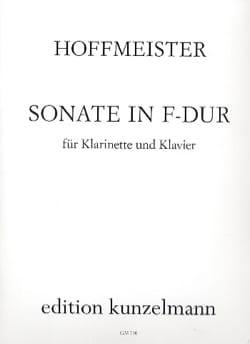 Franz Anton Hoffmeister - Sonate F Dur–Klarinette Klavier - Partition - di-arezzo.fr