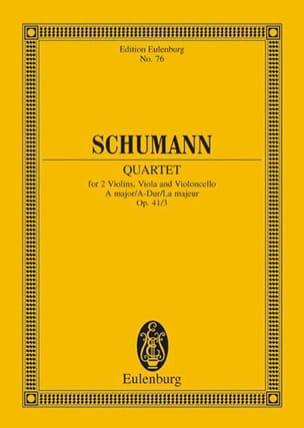 Robert Schumann - Streichquartett A-Dur Op. 41/3 - Conducteur - Partition - di-arezzo.fr