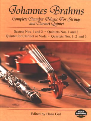 Johannes Brahms - Complete Chamber Music for Strings and Clarinet Quintet - Full Score - Partition - di-arezzo.fr