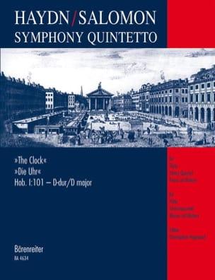 Haydn Joseph / Salomon Johann Peter - Symphony Quintetto Die Uhr Hob. 1 : 101 - Partitur + Stimmen - Partition - di-arezzo.fr
