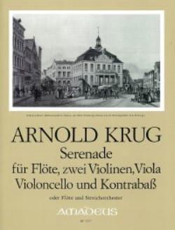 Arnold Krug - Serenade - Flöte 2 Violinen Viola Cello Kontrab. - Stimmen - Partition - di-arezzo.fr