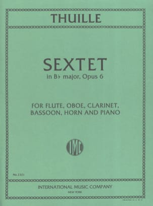 Ludwig Thuille - Sextet in Bb major op. 6 – Flute oboe clar. bassoon horn piano - Partition - di-arezzo.fr