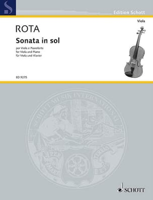 Nino Rota - Sonata in Sol - Viola - Sheet Music - di-arezzo.co.uk