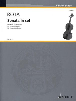 Nino Rota - Sonata in Sol – Viola - Partition - di-arezzo.fr
