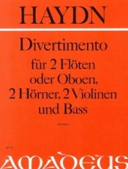 HAYDN - Divertimento - 2 Flöten 2 Hörner 2 Violinen Bass - Stimmen - Partition - di-arezzo.fr