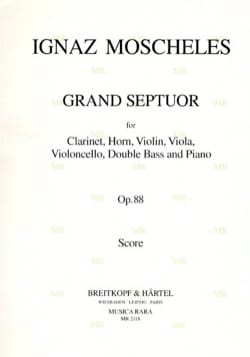 Grand Septuor, Op. 88 - Clarinette-Cor-Violon-Alto-Cello-Contrebasse-Piano - laflutedepan.com