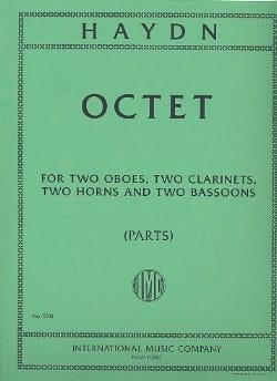 Octet in F major - Parts HAYDN Partition OCTUORS - laflutedepan