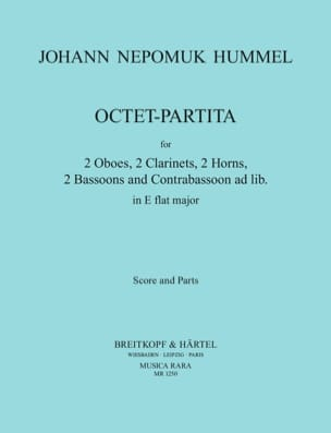Octet-Partita In Eb Mib M. - Octuor A Vents HUMMEL laflutedepan