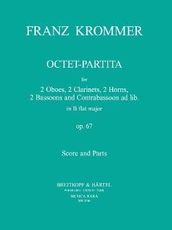 Octet-Partita B-flat major op. 67 -Score + parts KROMMER laflutedepan
