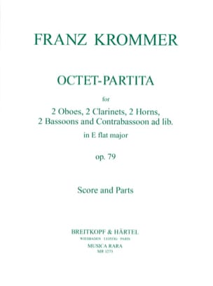 Octet-Partita in E flat major op. 79 - Score + parts laflutedepan
