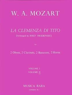 La Clemenza di Tito Volume 2 -Harmoniemusik - Score + parts laflutedepan