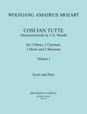 MOZART - Cosi Fan Tutte Volume 1 - harmoniemusik - Score + Parts - Partition - di-arezzo.fr