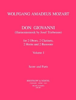 MOZART - Don Giovanni Volume 1 - Harmoniemusik - Score parts - Sheet Music - di-arezzo.co.uk