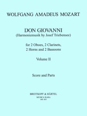 Don Giovanni Volume 2 - Harmoniemusik - Score + parts laflutedepan