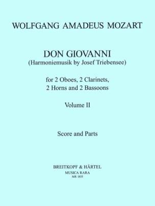 Don Giovanni (Volume 2) –Harmoniemusik - Score + parts - laflutedepan.com