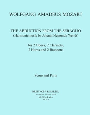 MOZART - The abduction from the seraglio - Harmoniemusik - Score parts - Sheet Music - di-arezzo.co.uk