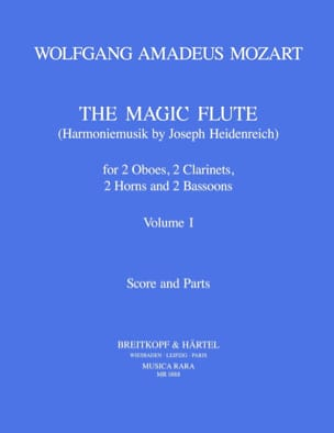 MOZART - The magic flute Volume 1 - Harmoniemusik - Score parts - Sheet Music - di-arezzo.co.uk
