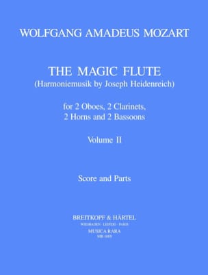MOZART - The magic flute Volume 2 - Harmoniemusik - Score parts - Sheet Music - di-arezzo.co.uk