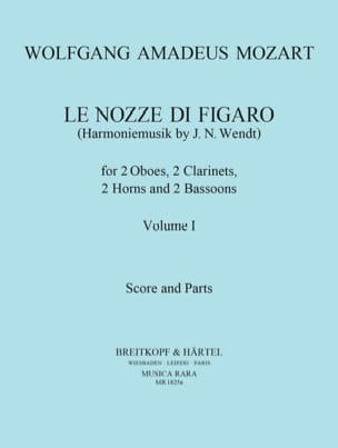 MOZART - The Nozze di Figaro Volume 1 - Harmoniemusik - Score Parts - Sheet Music - di-arezzo.co.uk