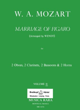 MOZART - The Nozze di Figaro Volume 2 - Harmoniemusik - Score Parts - Sheet Music - di-arezzo.co.uk