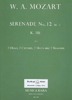 MOZART - Serenade No. 12 in minor KV 388 - Wind byte - Parts - Sheet Music - di-arezzo.co.uk