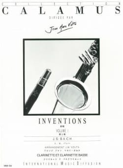 Inventions Volume 1 - 2 Clarinettes BACH Partition laflutedepan