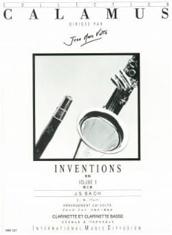 Inventions Volume 2 - 2 Clarinettes BACH Partition laflutedepan