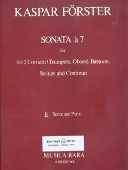 Kaspar Förster - Sonate A 7 - 2 Trompeten oder Oboe-Fagott-Streicher und BC - Noten - di-arezzo.de