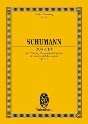 SCHUMANN - Streichquartett A-Moll Op. 41/1 - Conducteur - Partition - di-arezzo.fr
