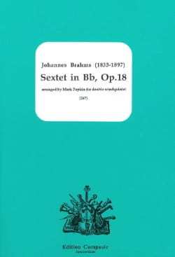 BRAHMS - Sextet In Bb, Op. 18 - Wind Dixtuor - Sheet Music - di-arezzo.com