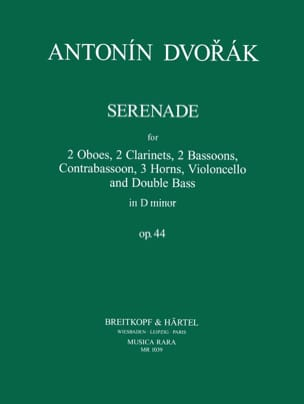 DVORAK - Serenade in D Min. Op. 44 - Sheet Music - di-arezzo.com