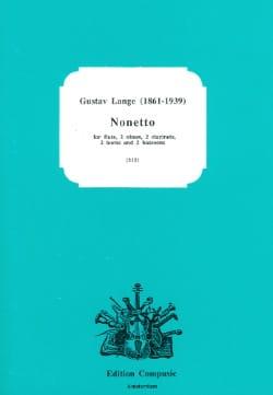 Gustav Lange - Nonette - Flûte-2 Hautbois-2 Clar.-2 Cors-2 Bassons - Partition - di-arezzo.fr