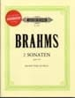 2 Sonates Op.120 - Partition + CD BRAHMS Partition laflutedepan