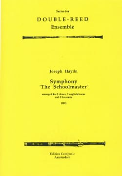 Symphony The Schoolmaster - 2 Oboes 2 english horns 2 bassoons laflutedepan