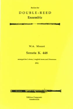 Sonata KV 448 - 2 Oboes 2 english horns 2 bassoons - Score + parts laflutedepan