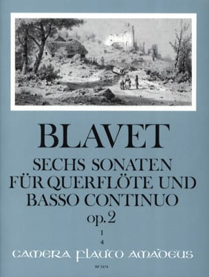 Michel Blavet - 6 Sonaten op. 2 Bd. 1 - Flöte und Bc - Sheet Music - di-arezzo.co.uk