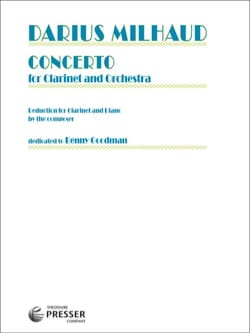 Darius Milhaud - Concerto For Clarinet And Orchestra - Sheet Music - di-arezzo.co.uk