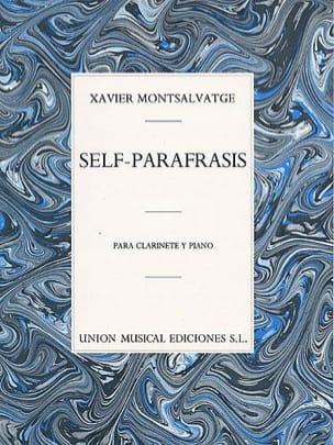 Xavier Montsalvatge - Self-Parafrasis - Partition - di-arezzo.fr